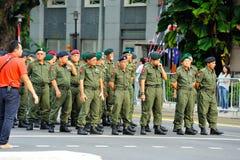 Giorno della ripetizione di parata di festa nazionale (NDP) Fotografia Stock Libera da Diritti