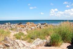 Giorno della spiaggia e del sole della scogliera Fotografia Stock Libera da Diritti
