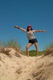 Giorno della spiaggia a Montauk, Long Island New York, U.S.A. Fotografia Stock Libera da Diritti