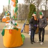 Giorno della st Patricks a Mosca Immagini Stock Libere da Diritti