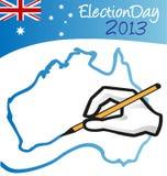 Giorno delle elezioni australiano Fotografia Stock Libera da Diritti