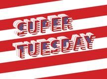 Giorno delle elezioni eccellente di martedì in U.S.A. Fotografia Stock