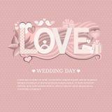 Giorno delle nozze dell'insegna Fotografia Stock