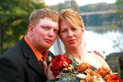 Giorno delle nozze di caduta immagini stock