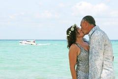 Giorno delle nozze sulla spiaggia Fotografie Stock