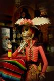 Giorno dello scheletro di morte Fotografie Stock Libere da Diritti