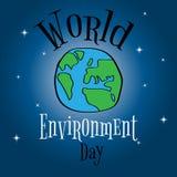 Giorno di ambiente di mondo Progettazione di massima per l'insegna, cartolina d'auguri, Immagine Stock
