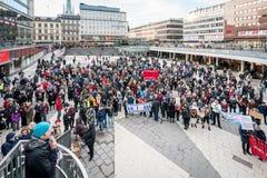 Giorno di Anti-Trump e marzo del ` s della donna Fotografia Stock