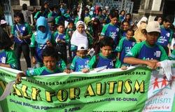 Giorno di autismo del mondo in Indonesia Fotografia Stock