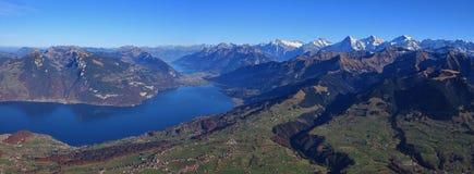 Giorno di autunno nel Bernese Oberland Fotografia Stock