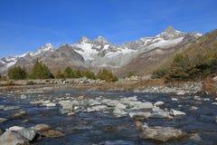 Giorno di autunno in Zermatt Immagine Stock Libera da Diritti