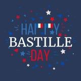 Giorno di Bastille felice Fotografia Stock