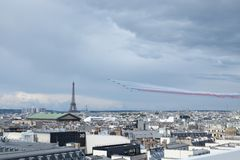 Giorno di Bastille Patrouille de Francia Immagini Stock Libere da Diritti
