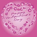 Giorno di biglietti di S. Valentino Fotografia Stock
