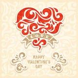 Giorno di biglietti di S. Valentino Fotografie Stock