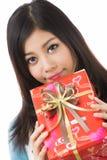Giorno di biglietti di S. Valentino asiatico della donna Immagine Stock