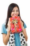 Giorno di biglietti di S. Valentino asiatico della donna Immagini Stock Libere da Diritti