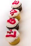 Giorno di biglietti di S. Valentino - bigné che compitano AMORE Fotografia Stock Libera da Diritti