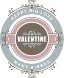 Giorno di biglietti di S. Valentino calligrafico degli elementi di progettazione Immagine Stock