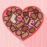 Giorno di biglietti di S. Valentino Candy Fotografie Stock Libere da Diritti