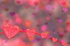 Giorno di biglietti di S. Valentino con cuore rosso Immagine Stock Libera da Diritti