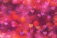 Giorno di biglietti di S. Valentino con i cuori Immagini Stock Libere da Diritti