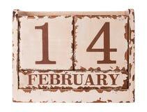 Giorno di biglietti di S. Valentino d'annata Fotografia Stock