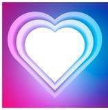 Giorno di biglietti di S. Valentino d'annata del cuore illustrazione vettoriale