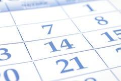 Giorno di biglietti di S. Valentino. Data del calendario. Immagine Stock