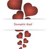 Giorno di biglietti di S. Valentino del cuore Fotografia Stock Libera da Diritti