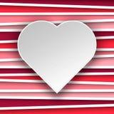 Giorno di biglietti di S. Valentino del cuore Illustrazione Vettoriale