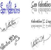 Giorno di biglietti di S. Valentino del san Fotografia Stock Libera da Diritti