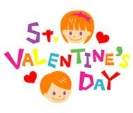 Giorno di biglietti di S. Valentino della st Immagine Stock