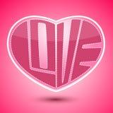Giorno di biglietti di S. Valentino di forma del cuore Fotografia Stock Libera da Diritti