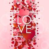Giorno di biglietti di S. Valentino e fondo felici di sarchiatura Fotografia Stock