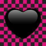 Giorno di biglietti di S Valentino Emo Heart lucido Fotografia Stock Libera da Diritti