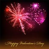 Giorno di biglietti di S. Valentino felice. Fotografia Stock