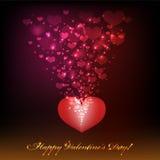 Giorno di biglietti di S. Valentino felice. Fotografie Stock