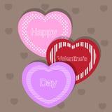 Giorno di biglietti di S. Valentino felice Fotografia Stock