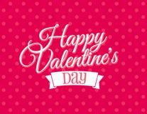Giorno di biglietti di S. Valentino felice Immagini Stock