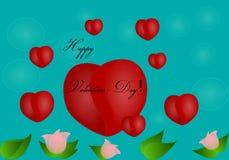 Giorno di biglietti di S. Valentino felice! Fotografia Stock Libera da Diritti