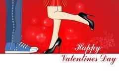 Giorno di biglietti di S. Valentino felice, amore, bacio, carta di giorno di biglietti di S. Valentino illustrazione di stock