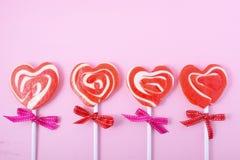 Giorno di biglietti di S. Valentino felice Candy immagini stock