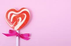 Giorno di biglietti di S. Valentino felice Candy fotografia stock