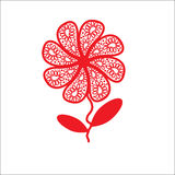 Giorno di biglietti di S. Valentino felice di saluti eleganti del fiore, rec Fotografia Stock