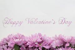 Giorno di biglietti di S. Valentino felice - fiori Immagini Stock