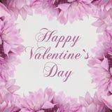Giorno di biglietti di S. Valentino felice - fiori illustrazione di stock