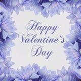 Giorno di biglietti di S. Valentino felice - fiori illustrazione vettoriale