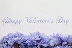 Giorno di biglietti di S. Valentino felice - fiori Immagini Stock Libere da Diritti
