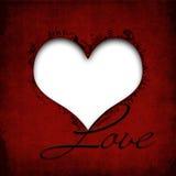 Giorno di biglietti di S. Valentino felice. Fondo di lerciume con cuore Immagine Stock Libera da Diritti
